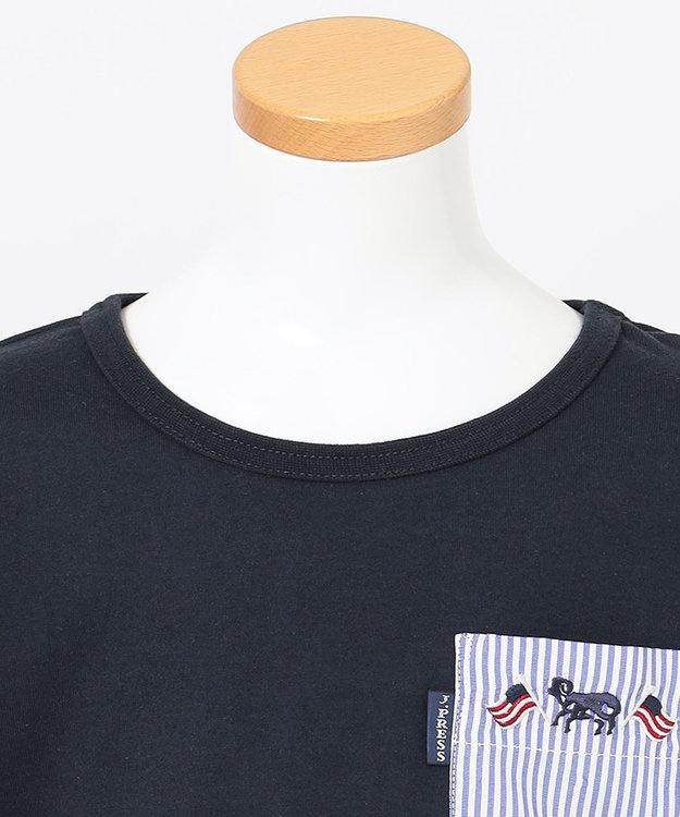 J.PRESS KIDS 【120-130cm】40/2天竺フラッグポイントTシャツ