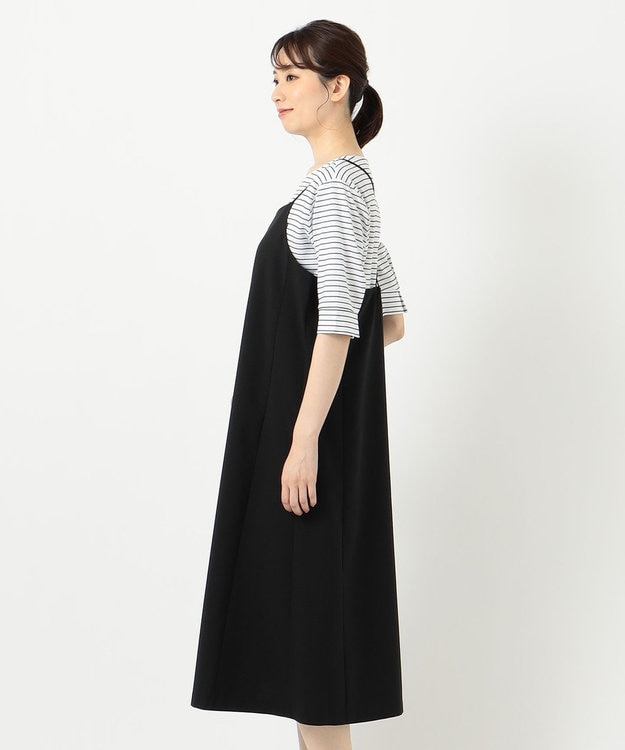 J.PRESS LADIES 【洗える】キャミワンピース+カットソー ツインセット