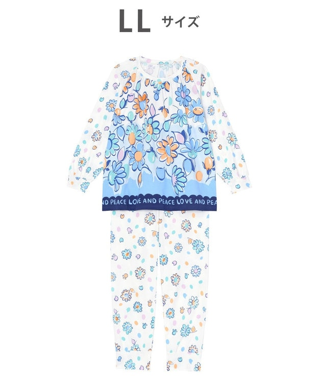tsumori chisato SLEEP パジャマ ロング袖ロングパンツ 花柄 /ワコール UDO158
