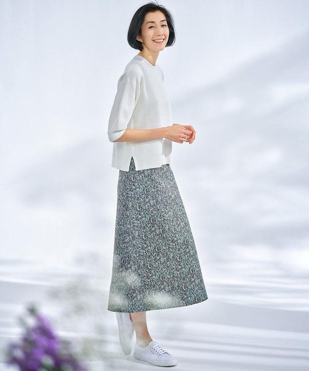 自由区 L 米沢ジャカード リバーシブル スカート