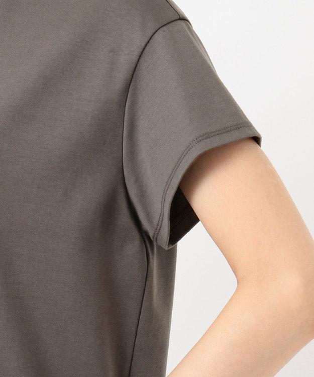 J.PRESS LADIES L 【UVケア・消臭効果・接触冷感】コンパクトコットンスムース 裾刺繍 カットソー
