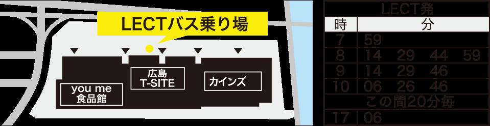 LECTバス乗り場